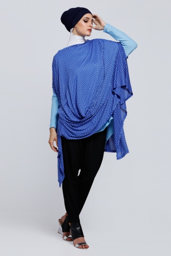 Striped Cover Up Poncho