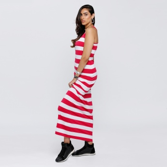 Striped Sleeveless Maxi Dress