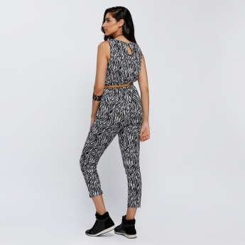 Printed Sleeveless Jumpsuit