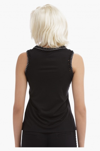 BLACK by Splash Embellished Sleeveless Top