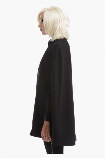 BLACK by Splash Cape Jacket with Piping